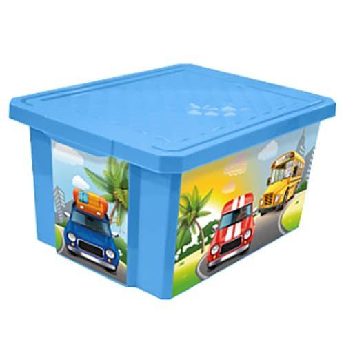 Дет.ящик для хранения игрушек X-BOX Sity Cars, 17л.